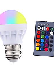 cheap -1pcs 3 W 200-250 lm E26 / E27 LED Smart Bulbs 1 LED Beads SMD 5050 Remote-Controlled Party Decorative RGBW 85-265 V