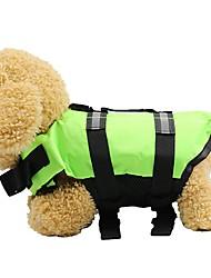 cheap -Dogs Cats Jacket Vest Life Vest Dog Clothes Fuchsia Orange Green Costume Husky Dalmatian Border Collie Oxford Cloth Solid Colored Bone Waterproof Illuminated XS S M L XL