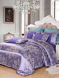 cheap -Duvet Cover Sets Luxury Poly / Cotton / 100% Tencel Jacquard 4 PieceBedding Sets