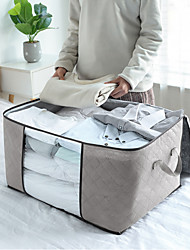 cheap -large capacity moisture-proof breathable visible non-woven quilt bag home cabinet clothing dust-proof finishing storage bag student moving bag