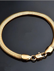 cheap -Men's Chain Bracelet Classic Precious Stylish Brass Bracelet Jewelry Gold For Daily Work / Silver Plated / Gold Plated