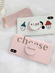 cheap -Case For Apple iPhone XS Max / iPhone 6 Card Holder Back Cover Cartoon Soft TPU