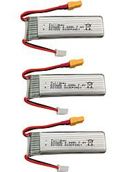 cheap -XK K130 7.4V 600mAh 3pcs Battery Rechargeable Battery