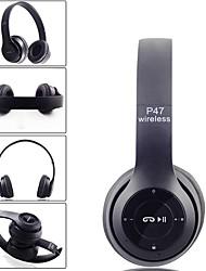 abordables -LITBest P47 Casque sur l'oreille Sans Fil Bluetooth 4.2 Stereo Avec Microphone Avec contrôle du volume Voyage et divertissement