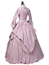 cheap -Princess Rococo Victorian Dress Party Costume Costume Women's Lace Cotton Costume Pink Vintage Cosplay Masquerade Party & Evening Long Sleeve Floor Length Long Length Plus Size
