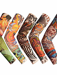 cheap -1pc Outdoor Cycling Sleeves 3D Tattoo Printed Armwarmer UV Protection MTB Bike Bicycle Sleeves Arm Protection Ridding Arm Sleeves