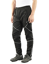 cheap -Arsuxeo Men's Cycling Pants Bike Tights Pants Bottoms Windproof Sports Solid Color Polyester Winter Black / Grey Mountain Bike MTB Road Bike Cycling Clothing Apparel Slim Fit Bike Wear