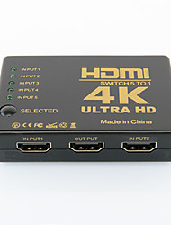 cheap -Infrared 5 Input and 1 Output HDMI HD Video Switcher with Remote Control