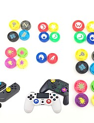 cheap -4 Piece Game Controller Thumb Stick Grips Joystick for Nintendo Switch Pro PS4 XBOX ONE Handle