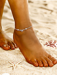 cheap -Women's Ankle Bracelet Bohemian Anklet Jewelry Silver For Party Daily