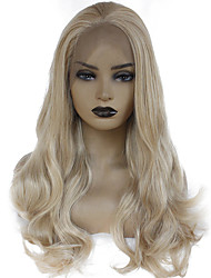 cheap -Synthetic Lace Front Wig Body Wave Lily Free Part Lace Front Wig Blonde Long Golden Blonde Synthetic Hair 22-26 inch Women's Heat Resistant Women Fashion Blonde / Glueless