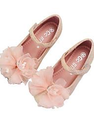 cheap -Girls' Flower Girl Shoes Mesh Flats White / Pink Summer