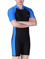 abordables -Dive&Sail Homme Combinaison Fine Combinaisons SPF50 Protection solaire UV Séchage rapide Manches Courtes Zip frontal - Natation Plongée Surf Mosaïque / Haute élasticité