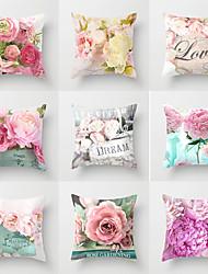 cheap -1 pcs Polyester Pillow Cover, Floral Throw Pillow