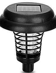 cheap -1pc Solar Powered LED Outdoor Yard Garden Lawn Light Waterproof Anti Mosquito Insect Pest Bug Zapper Killer Trapping LED Lamp