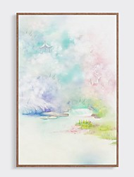 cheap -Framed Oil Painting - Abstract Wood Oil Painting Wall Art