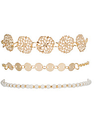 cheap -3pcs Women's Bead Bracelet Vintage Bracelet Layered Seed Pearls Flower Classic Vintage European Pearl Bracelet Jewelry Gold For Gift Daily Holiday Street Work