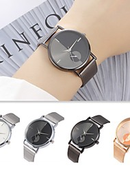 cheap -Couple's Dress Watch Quartz Stainless Steel Black / Silver / Rose Gold Casual Watch Color Gradient Analog Fashion Minimalist - Black Rose Gold White / Silver One Year Battery Life