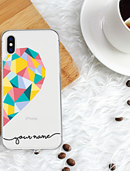 cheap -Case For iPhone XS Max 8 Plus Back Case Soft Cover TPU Fashion Color Love  Soft TPU for iPhone X 7 Plus 7 6 Plus 6 5 SE 5S 5 8 XR XS