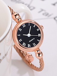cheap -Women's Bracelet Watch Casual Fashion Rose Gold Stainless Steel Chinese Quartz Black Black+White Rose Gold Water Resistant / Waterproof Casual Watch 30 m 1 pc Analog One Year Battery Life