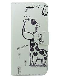 cheap -Case For Apple iPhone X / iPhone XS Card Holder / Flip Full Body Cases Animal / Cartoon Hard PU Leather for iPhone XS / iPhone X / iPhone 8 Plus