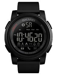 Недорогие -SKMEI Муж. электронные часы Цифровой силиконовый Черный / Синий / Зеленый 50 m Защита от влаги Bluetooth Smart Цифровой На каждый день Мода - Черный Зеленый Синий / Календарь / Хронометр