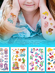 cheap -6 pcs Temporary Tattoos Eco-friendly / Water Resistant Face / Body / brachium Environmentally Friendly Ink
