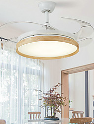 cheap -1-Light 108 cm Mini Style / LED Ceiling Fan Metal Wood / Bamboo Mini Painted Finishes Nature Inspired / LED 110-120V / 220-240V
