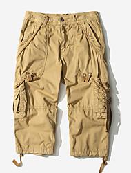 abordables -Homme Basique Grandes Tailles Chino Pantalon - Couleur Pleine Vert Véronèse Kaki Gris Clair 34 36 38