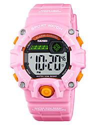 Недорогие -SKMEI®1484 Дети Детские часы Android iOS WIFI Водонепроницаемый Спорт Длительное время ожидания Smart Градиент цвета будильник Календарь С двумя часовыми поясами