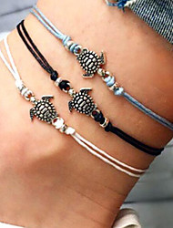 cheap -Women's Ankle Bracelet Turtle Bohemian Anklet Jewelry Black / White / Blue For Party Daily