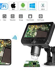 Недорогие -wi-fi цифровой микроскоп 4.3-дюймовый экран 720p 50x-1000x увеличение 1080p fhd 2.0 mp 8 светодиодов для android и ios планшетных ПК
