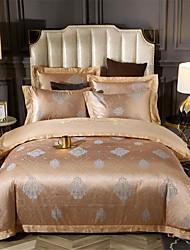 cheap -Duvet Cover Sets Luxury / Contemporary Cotton Jacquard / Printed 4 PieceBedding Sets