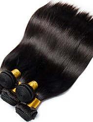 cheap -6 Bundles Malaysian Hair Straight 100% Remy Hair Weave Bundles Natural Color Hair Weaves / Hair Bulk Bundle Hair One Pack Solution 8-28 inch Natural Color Human Hair Weaves Life Soft Easy dressing