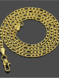 cheap -Men's Chain Necklace Classic Classic Basic Fashion Stainless Steel Gold 51,61 cm Necklace Jewelry 1pc For Daily Work
