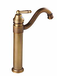 cheap -Bathroom Sink Faucet - Rotatable Antique Brass / Antique Copper / Electroplated Centerset Single Handle One HoleBath Taps