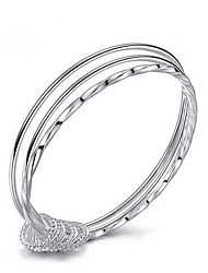 cheap -Women's Bracelet Bangles Classic Joy Fashion Silver Plated Bracelet Jewelry Silver For Gift Daily