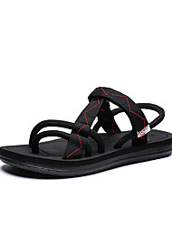 cheap -Men's Comfort Shoes Elastic Fabric Spring & Summer Vintage Sandals Breathable Black / Black / Red