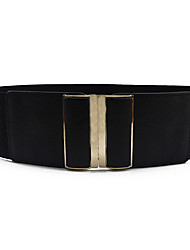 cheap -Women's Vintage / Party / Work Wide Belt - Solid Colored