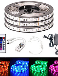 cheap -BRELONG Smart WIFI SMD 5050 10mm Light With RGB 24Keys 15M 900LED IP65 Not Waterproof DC12V With 5A US Power