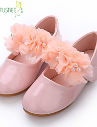 cheap -Girls' Flats Comfort Flower Girl Shoes Patent Leather Floral Little Kids(4-7ys) Big Kids(7years +) Daily Party & Evening Pearl Flower White Dusty Rose Spring Fall / TPR (Thermoplastic Rubber)
