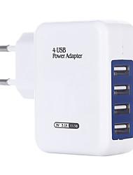 cheap -Portable Charger USB Charger EU Plug Multi-Output 4 USB Ports 3 A DC 5V for S8 Plus / S8 / S7 edge