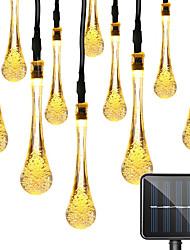 Недорогие -1 компл. Светодиодный фонарь солнечный свет строка 5 м 20 световых полосок капли воды таинственные капли воды пузырь капли открытый водонепроницаемый свет