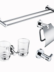 cheap -Bathroom Accessory Set New Design Modern Stainless Steel 4pcs - Bathroom Single / 1-Towel Bar