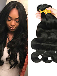 cheap -3 Bundles Indian Hair Body Wave Virgin Human Hair 100% Remy Hair Weave Bundles Bundle Hair Human Hair Extensions Hair Weft with Closure 8-28 inch Natural Color Human Hair Weaves Fashionable Design