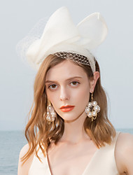 cheap -100% Linen Headbands / Fascinators with Solid 1pc Wedding / Party / Evening / Horse Race Headpiece