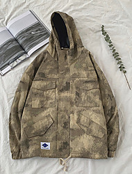 cheap -Men's Track Jacket Hoodie & Sweatshirt High Split Fashion Red Khaki Cotton Running Jacket Plus Size Long Sleeve Sport Activewear UV Resistant Quick Dry Inelastic