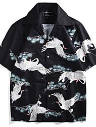 cheap -Men's Shirt - 3D / Animal Print Black