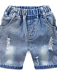 cheap -Kids Boys' Basic Street chic Print Print Cotton Jeans Light Blue
