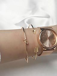 cheap -2pcs Women's Bracelet Bangles Cuff Bracelet Earrings / Bracelet Layered Arrow Simple Classic Vintage Fashion Alloy Bracelet Jewelry Gold For Daily School Street Holiday Festival
